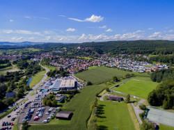 Luftaufnahme der Stadt Aach