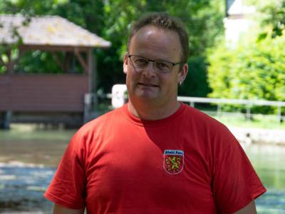 Bauhofmitarbeiter Markus Schatz