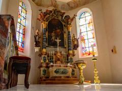 Altarraum Pfarrkirche Sankt Nikolaus Aach