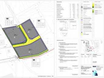 Planteil zum Bebauungsplan Gewerbegebiet Aachtal, 1. Erweiterung