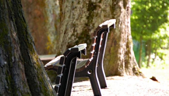Sitzgelegenheiten an der Aachquelle
