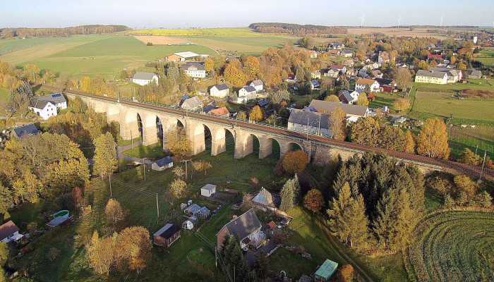 Eisenbahnbrücke in Colmnitz, Bild: Gunter Fichte